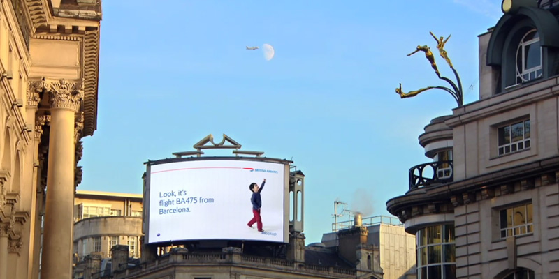 BA Flights outdoor ad
