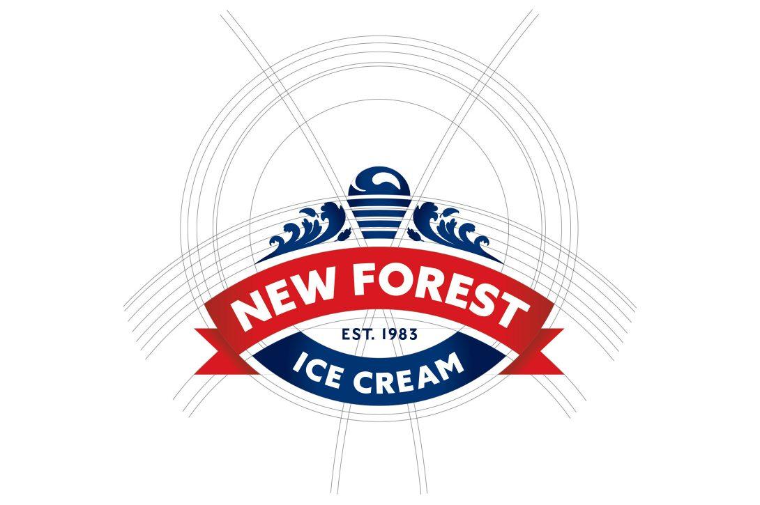 New Forest Ice Cream logo design
