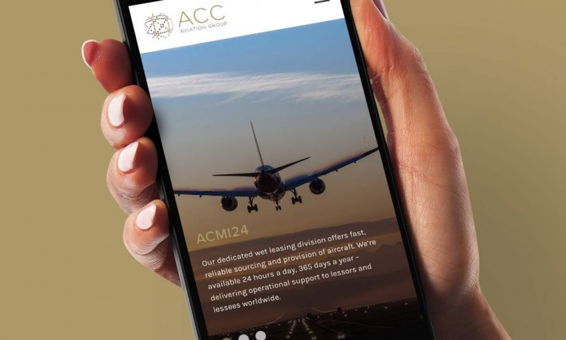 ACC Aviation website mobile