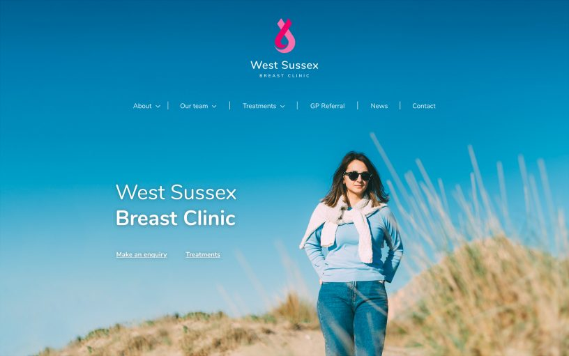West Sussex Breast Clinic website