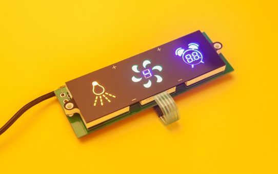 Circuit board with device photography