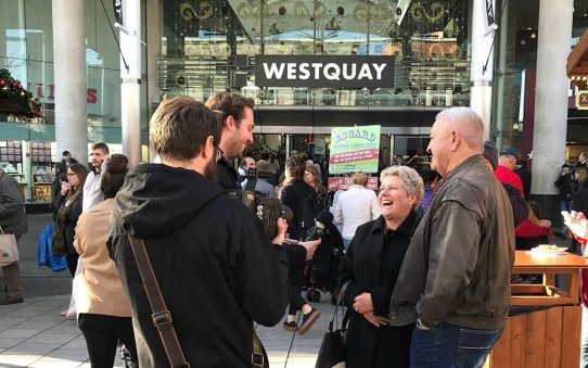 Vox pop outside of West Quay