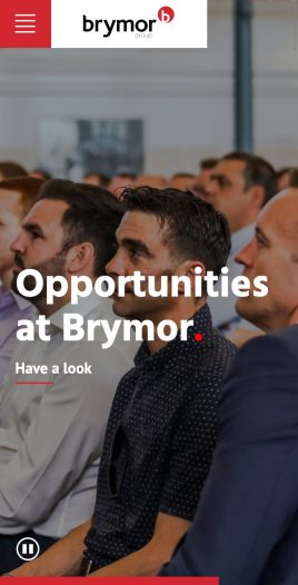 Brymor website mobile