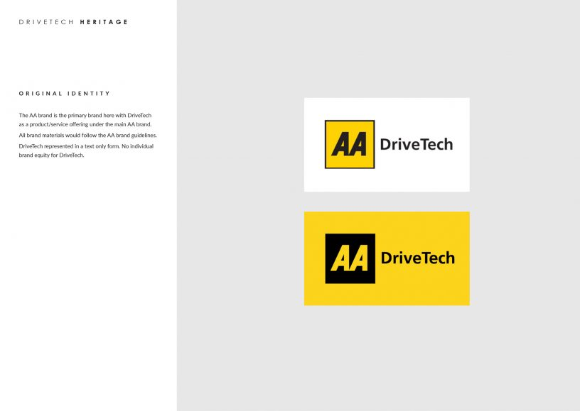 AA DriveTech logo brand guidelines
