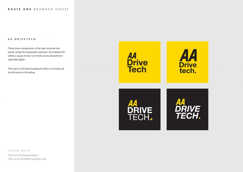AA DriveTech logo brand guidelines